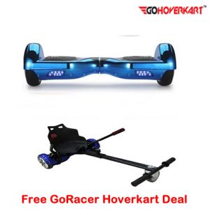 Blue Hoverboard Segway and free go racer hoverkart
