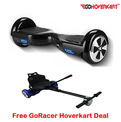 Black 6.5 Hoverboard Segway and free go racer hoverkart