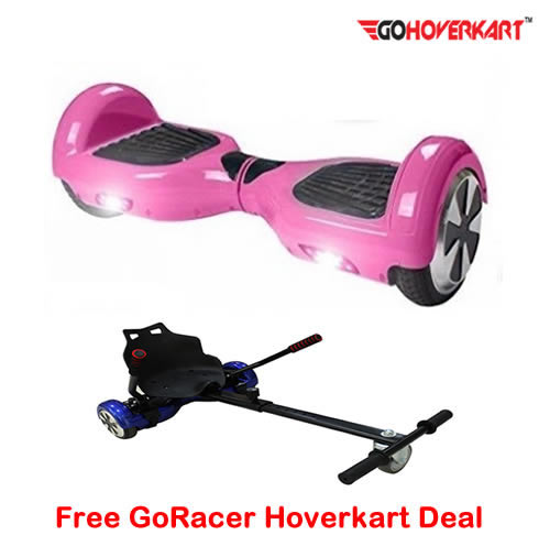 Pink 6.5 Hoverboard Segway and free go racer hoverkart